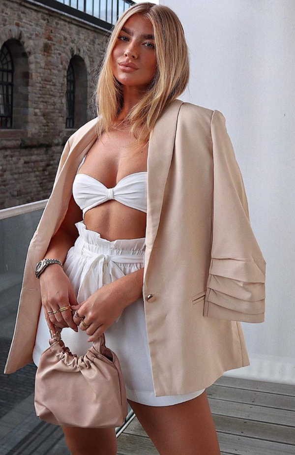 Stay The Night Blazer Nude