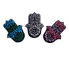 Groovy Blueberry Ohm, Hamsa, Buddha 3 Pack Patches