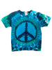 Youth Short Sleeve Blue Green Peace Tee