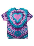 Adult Eagle Heart Tie Dye T-Shirt