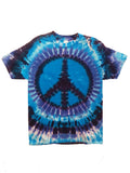 Adult Blues Peace Tie Dye T-Shirt