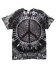 Adult Charcoal Peace Tie Dye T-Shirt