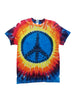 Adult Rainbow Peace Tie Dye T-Shirt