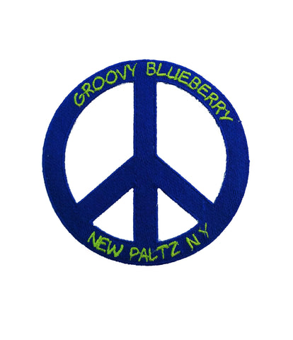Groovy Blueberry Peace Sign Patch