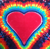 Rainbow Heart Tapestry