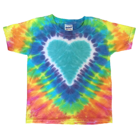 Youth Short Sleeve Pastel Turquoise Heart Tee