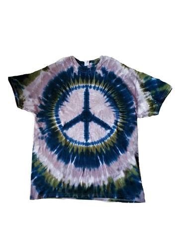 Adult Cosmo Peace Sign Tie Dye T-shirt