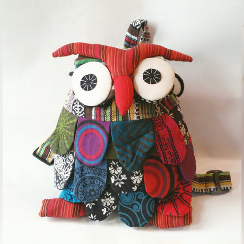 Patchwork Owl Back Pack