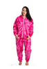 Adult Pink Swirl Long Sleeve Hooded Onesie