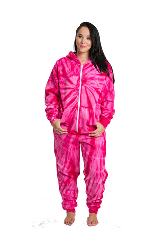 Kid's Pink Swirl Long Sleeve Hooded Onesie