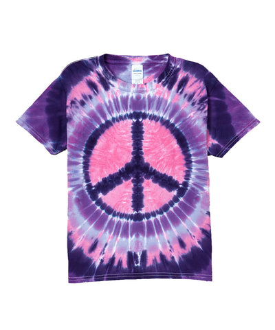 Youth Short Sleeve Pink and Purple Peace Tee