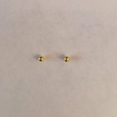 Gold Ball Nose Stud