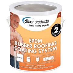 1 Gal  White  EPDM Rubber Roof Coating