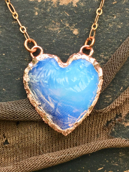 Blue Opalite Heart Necklace