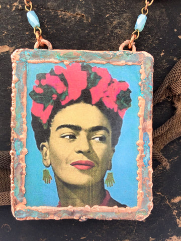 Frida Wearing Picasso Earrings