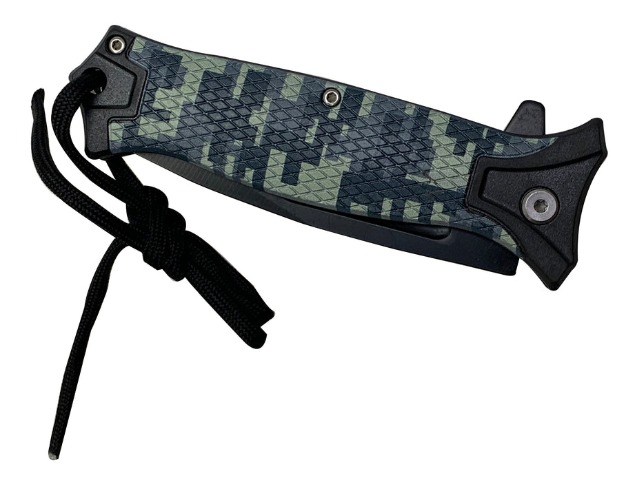 "4.75"" SPRING ASSISTED FOLDING CAMO KNIFE"