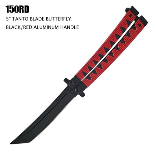 "SAMURAI STYLE 5"" TANTO BLADE BUTTERFLY"