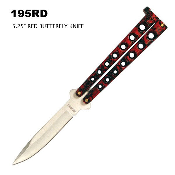 "195BK  8.75"" OVERALL BUTTERFLY KNIFE"