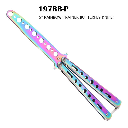 197RB-P PRACTICE BUTTERFLY RAINBOW
