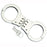 DOUBLE LOCK HINGED HANDCUFFS 4508HT