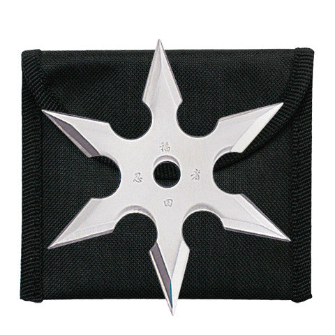 "4"" THROWING STAR WITH POUCH 90-16"