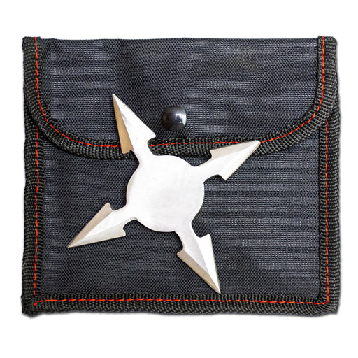 "4 POINT 3.5"" THROWING STAR WITH POUCH"