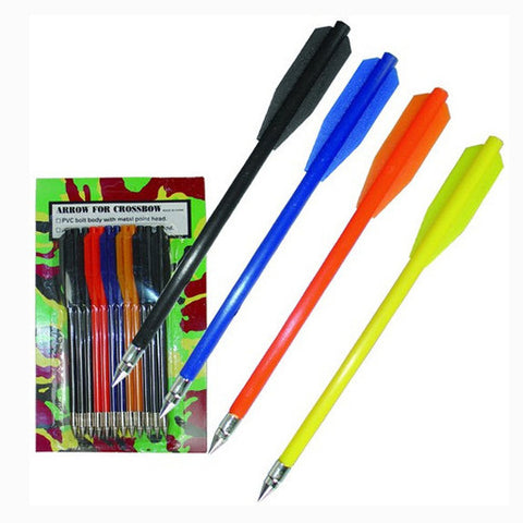 C 102 PVC BOLT BODY ARROWS WITH METAL TIPS