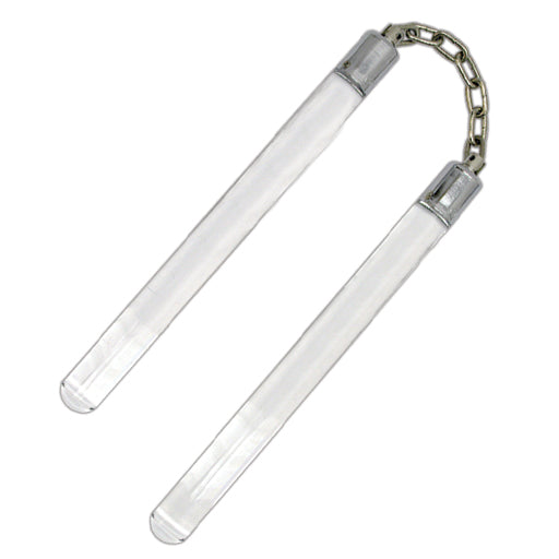 C 134 CLEAR ACRYLIC NUNCHUCKS