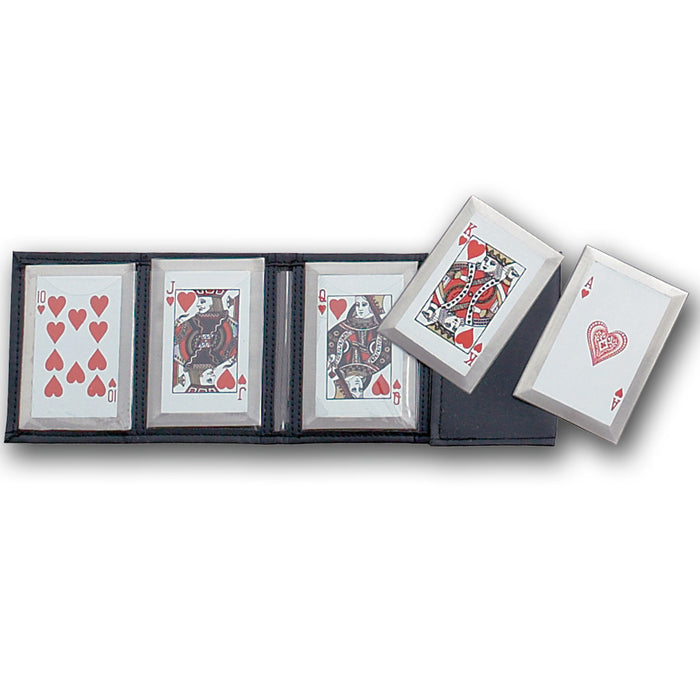 ROYAL FLUSH PLAYING CARD THROWERS SET OF 5 WITH POUCH JL SS5R