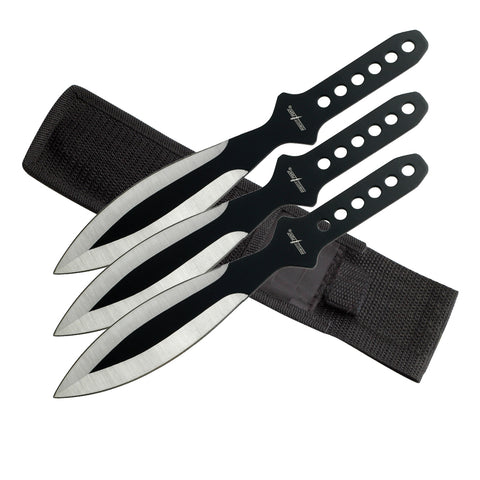 "9"" TWO TONE THROWING KNIFE SET OF 3 PP 114-3SB"