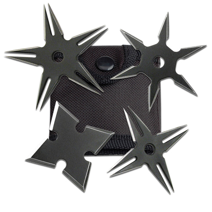 "2.5"" BLACK THROWING STAR SET OF 4 RC 108-4B"