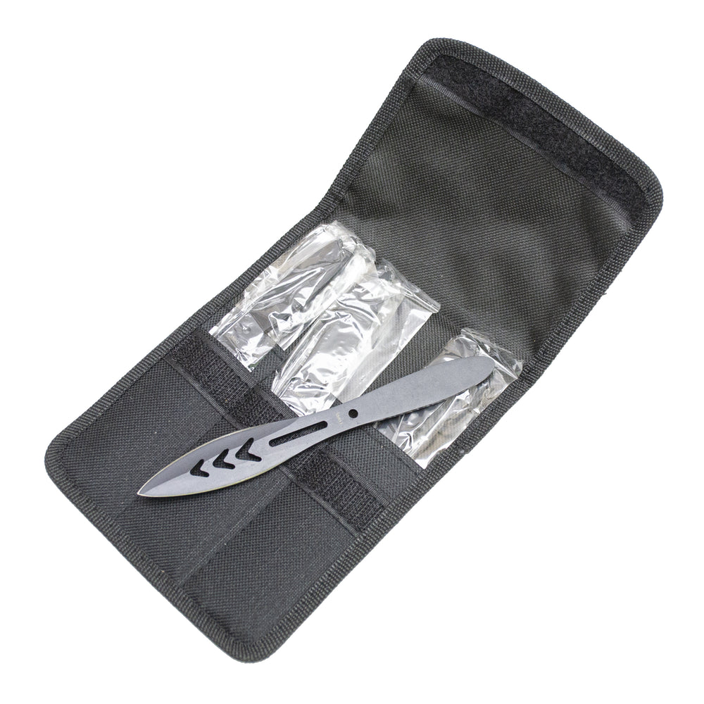 6 PIECE THROWING KNIFE SET WITH SHEATH RXTK234-66BK