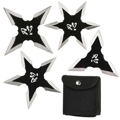 "3"" NINJA THROWING STARS SET OF 4 WTS-17-4BK"