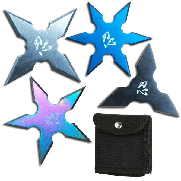 "3"" NINJA THROWING STARS SET OF 4 WTS-17-4MX"