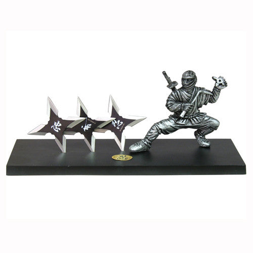 "9 1/4"" Ninja Star Table Stand with Stars TY 0059"