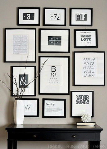Typography Photo Wall