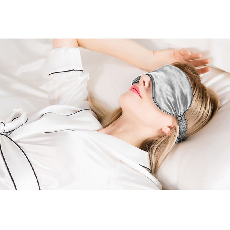 Imitated Silk Fabri Shading EyeShade Sleeping Eye Mask Cover Eyepatch Blindfolds Eyeshade Health Sleep Shield Light + Gift Bag