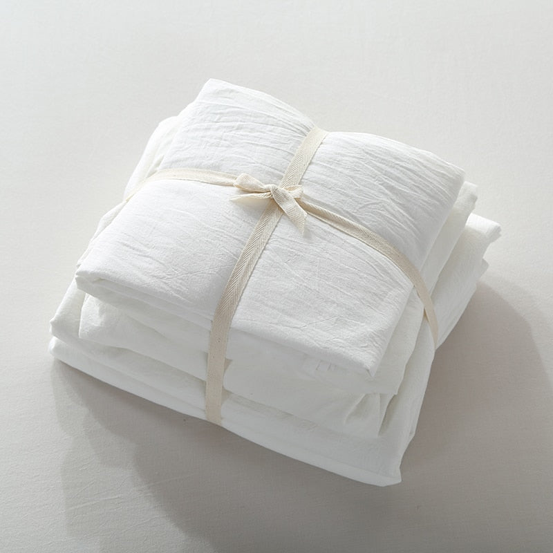 Vintage Washed Cotton Sheet Set