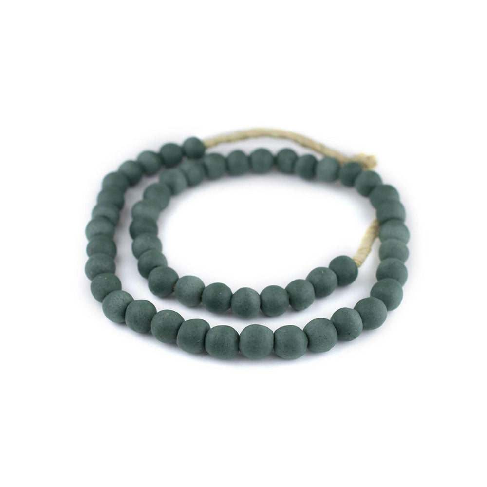 OPAQUE BLUE GREEN BEADS