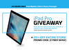 CYBER MONDAY! iPad Pro Giveaway and much more...