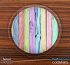 The Light Colored Wood Planks Skinned Foam-Backed Coaster Set
