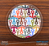The Colorful Anchor Collage Skinned Foam-Backed Coaster Set