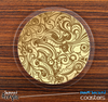 The Abstract Gold Pattern Skinned Foam-Backed Coaster Set