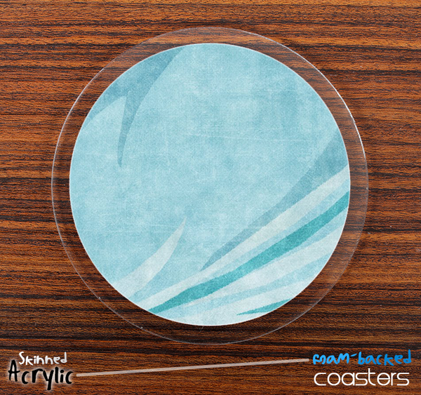 The Vintage Blue Swirled Skinned Foam-Backed Coaster Set