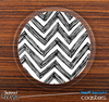 The Sketchy Chevron Pattern Skinned Foam-Backed Coaster Set