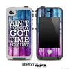 Aint Nobody Got Time For Dat Pink/Blue Wood Skin for the iPhone 5 or 4/4s LifeProof Case