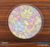 The Abstract Flower Pattern Skinned Foam-Backed Coaster Set