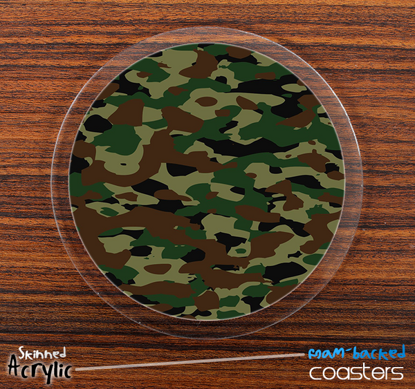 The Traditional Camouflage Skinned Foam-Backed Coaster Set