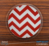 The Red Chevron Skinned Foam-Backed Coaster Set