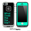 Black and Trendy Green What Does The Fox Say Skin for the iPhone 5 or 4/4s LifeProof Case